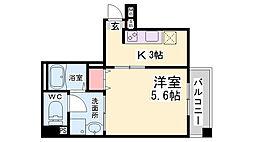 JR東海道・山陽本線 神戸駅 徒歩11分の賃貸マンション 5階1Kの間取り