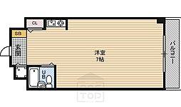 朝日プラザ都島本通パサージュ[6階]の間取り