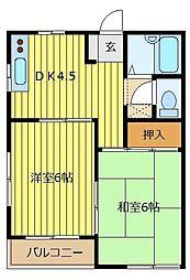 メゾンパロアルト[2階]の間取り