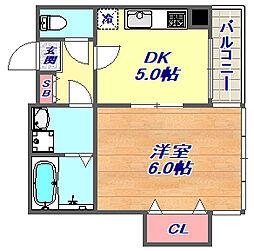 サンクレール芦屋[5階]の間取り