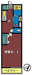 リブリ・フォーシーズンズ本町[201号室]の間取り