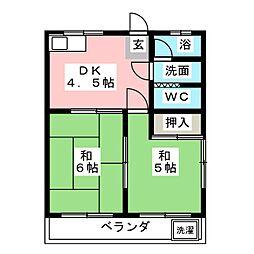 ドミール竜美ヶ丘[3階]の間取り