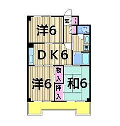 東京都足立区西綾瀬1丁目の賃貸マンションの間取り