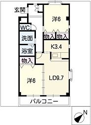 ミュートス神の倉I[1階]の間取り