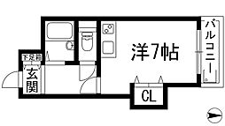 兵庫県西宮市門戸荘の賃貸マンションの間取り