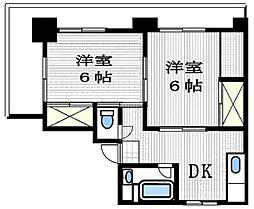 埼玉県さいたま市浦和区北浦和4丁目の賃貸マンションの間取り