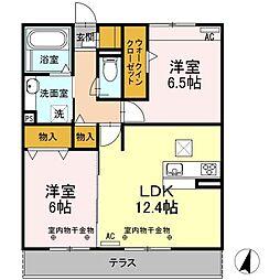 Recente和田B[1階]の間取り