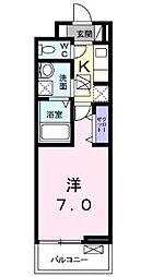 JR高徳線 栗林公園北口駅 徒歩10分の賃貸アパート 2階1Kの間取り