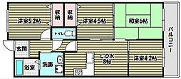 美加の台南海アーバンコンフォート壱番館[8階]の間取り