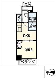 MEIBOU TESERA[6階]の間取り