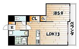 Bay Side Asano(ベイサイドアサノ)[6階]の間取り