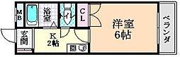 Osaka Metro谷町線 喜連瓜破駅 徒歩10分の賃貸マンション 1階1Kの間取り