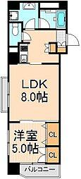 KWレジデンス東上野[1001号室]の間取り