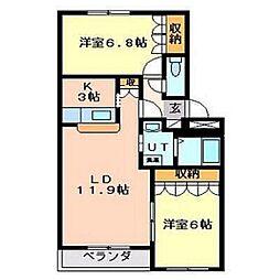 ハッピーライフ[3階]の間取り