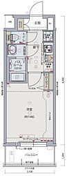 Osaka Metro千日前線 阿波座駅 徒歩6分の賃貸マンション 7階1Kの間取り