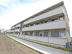 埼玉県越谷市大字下間久里の賃貸アパートの外観