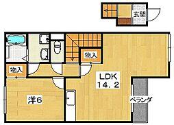 津田くにみ谷'08[2階]の間取り