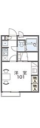 JR片町線(学研都市線) 住道駅 徒歩23分の賃貸アパート 2階1Kの間取り