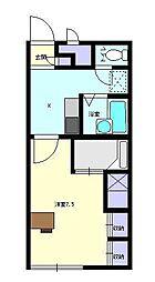 レオパレスMDAII[1階]の間取り