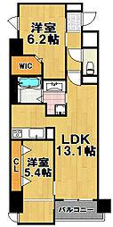 Lazo福島[8階]の間取り