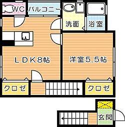 サンウッドヒカリ[2階]の間取り