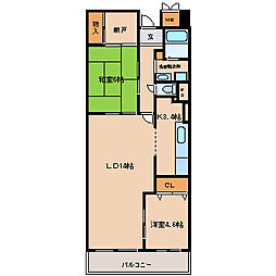 ルミエール神戸[5階]の間取り