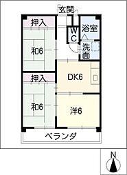 赤城マンション[1階]の間取り