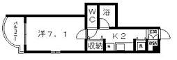 ソフィアコート阿倍野[2階]の間取り