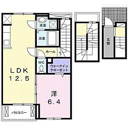 テラス SSKⅡ[3階]の間取り