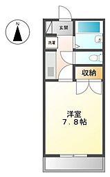ユースパレス土井[1階]の間取り