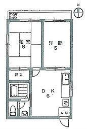 ファイン上野[3階]の間取り