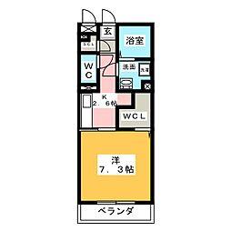 D-room岩塚[1階]の間取り