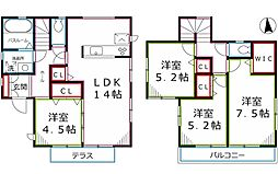 [一戸建] 東京都小平市上水南町4丁目 の賃貸【/】の間取り