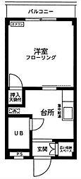 神奈川県厚木市上落合の賃貸アパートの間取り