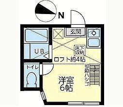 神奈川県横須賀市公郷町4丁目の賃貸アパートの間取り