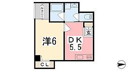 坂元町OMORIビル[402号室]の間取り