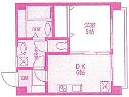 ハッピーマンション[4階]の間取り