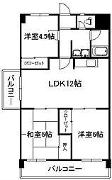 日恵コーポ[2階]の間取り