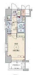 エステムコート梅田・天神橋リバーフロント 3階1Kの間取り