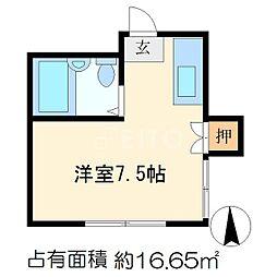 カサローゼ吉田[1階]の間取り
