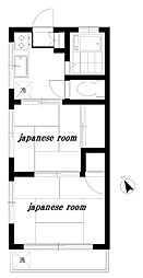 東京都豊島区南長崎6丁目の賃貸アパートの間取り
