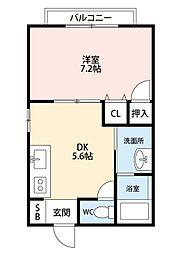 ドゥソレイユ21 B棟[1階]の間取り