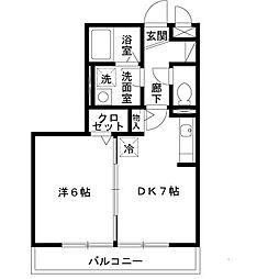 大阪府堺市中区深井水池町の賃貸アパートの間取り