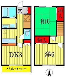 [テラスハウス] 埼玉県三郷市東町 の賃貸【/】の間取り