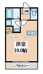 大阪府東大阪市本庄1丁目の賃貸アパートの間取り