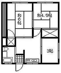 阿部アパート[101号室]の間取り