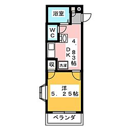 ウイング富塚[1階]の間取り