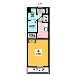 静岡県浜松市中区海老塚1の賃貸マンションの間取り