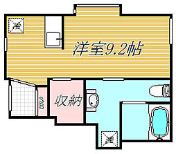 東京都板橋区四葉1丁目の賃貸アパートの間取り