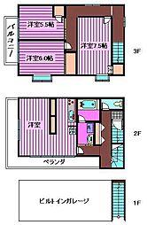 [テラスハウス] 埼玉県さいたま市緑区中尾 の賃貸【埼玉県 / さいたま市緑区】の間取り